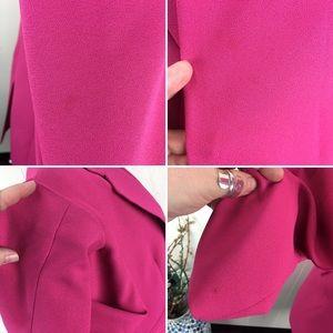 Vintage Jackets & Coats - Vintage Hot Magenta Pink Long Blazer Jacket 12